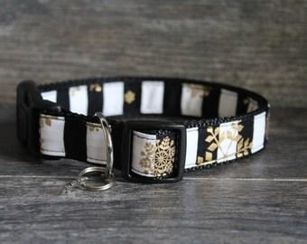 Christmas Dog Collar - Snowflake Collar - Pick your color