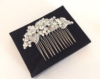 Rhinestone hair clip,Bridal hair accessories,Wedding hair piece,Bridal hair jewelry,Wedding hair comb,bridal headpiece vintage,Rhinestone