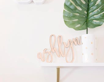 Custom Calligraphy Name Laser Cut Sign Wall Home Decor