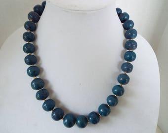 "14MM Natural gemstones  Lapis Lazuli and Sodalite Charoite Kyanite   beaded necklace 22"""
