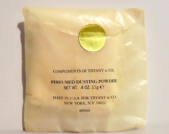 Rare Vintage 1980s Tiffany by Tiffany 0.4 oz Perfumed Dusting Powder Sample Packet
