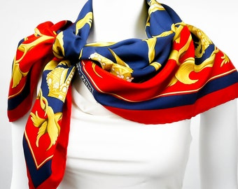 Authentic Vintage Hermes Scarf Couronnes or Crown Original Issue