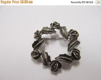On Sale SARAH COVENTRY Silver Tone Floral Pin Item K # 76