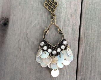 Crystal Tribal Necklace/Boho Jewelry/Southwestern Jewelry