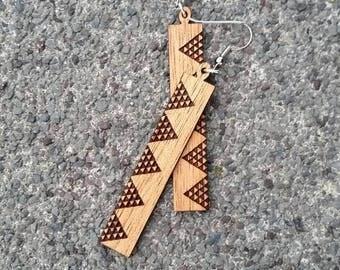 Koa Earring ~Mauna~ Hawaiian Koa Wood Earring