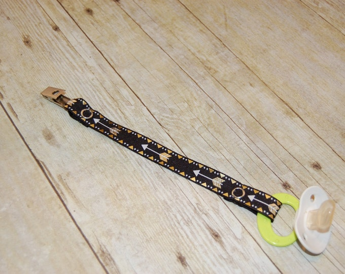 Featured listing image: Pacifier Clip, Arrow, Personalization Available, Ready to Ship