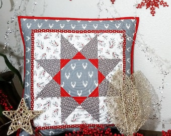 Modern Reindeer Pillow Cover Christmas Holiday decor