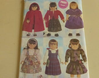 "Vintage Butterick 5110 Pattern 18"" Doll Clothes Factory Fold"