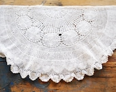 vintage lace doily, large, round