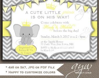 Elephant Baby Shower Invitations Gender Neutral Elephant Baby Shower Invitation Printable Invitation Printable Baby Shower Elephant Invites