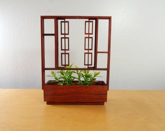 1/12 Scale Miniature Mid-Century Modern  Room Divider/Planter With Shelves