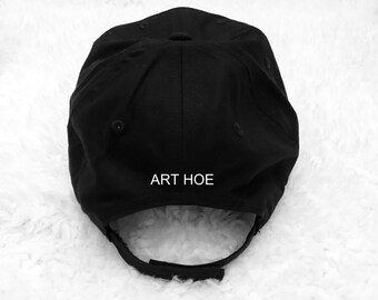 Art Hoe back Black Baseball Hat