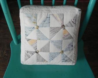 Marbled Pinwheel Box Pillow Cover