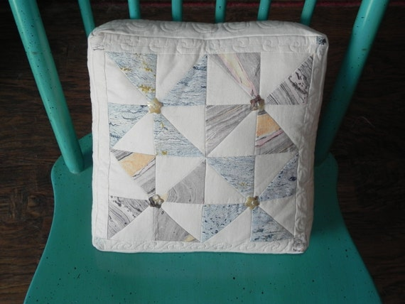 Marbled Pinwheel Box Pillow Cover