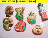vintage Hallmark and other brooches lot, vintage pins for wear or craft, estate jewelry