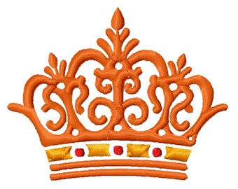 Queen King Princess Crown Embroidery Design 3 sizes    INSTANT DOWNLOAD
