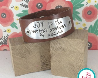 Joy Leather Chick Cuff