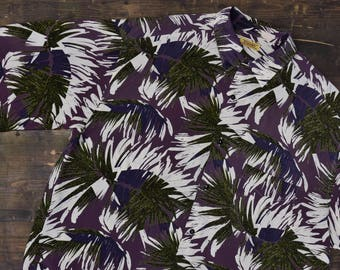 Short Sleeved Groovy Print Vintage Shirt