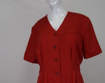 Vintage Red Jumpsuit