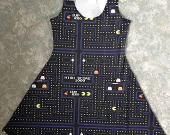 Retro Gaming Pacman-Inspired Dress
