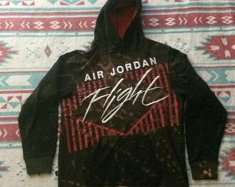 Bleached Air Jordan Flight Hooded Sweatshirt