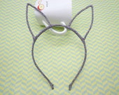 5pcs Headbands--Silver  Black  Colors Long Ear Head Shape Headband 6mm Wide