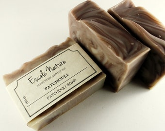 Patchouli handmade soap, Olive oil soap, Natural artisan soap with shea butter and silk