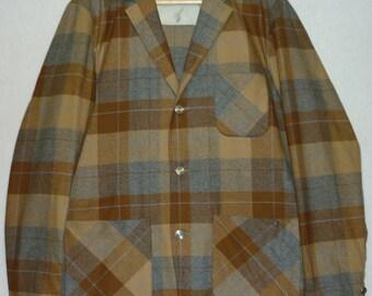 1950s Jacket / M / 40 / Pendleton 49er Style / 50s Jacket / Plaid Jacket / Sport Coat / 1960s Jacket / Vintage 1950s Mens Style / Rockabilly