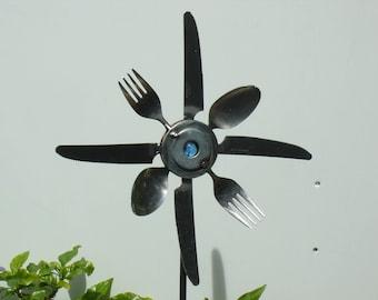 Fork Spoon and Knife Sunflower Garden  Art