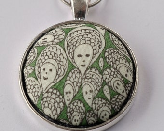 Liberty print pendant - Grayson Perry design Cranford green