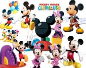 BEST collection of 120 Disney's Mickey Mouse Clubhouse Clipart - 120 high quality MICKEY MOUSE Clubhouse clipart
