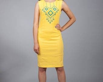 NEW COLLECTION Vyshyvanka linen dress, Ukrainian cross-stitch embroidered dress, Stylish dress different colors. Вышитое платье крестиком