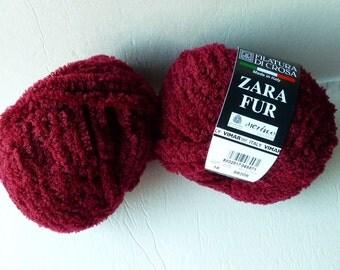 Yarn Sale  - Crimson 16  Zara Fur by  Filatura Di Crosa Yarn