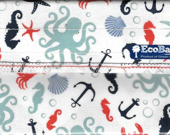 EcoBagIt! SEA CREATURES Keep Fresh Reusable Snack Bag