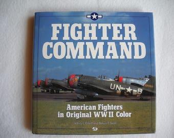 Gabby Gabreski autograph, Fighter Command book, Francis Gabby Gabreski, World War 2, color photographs, fighter planes, Ethell and Sand