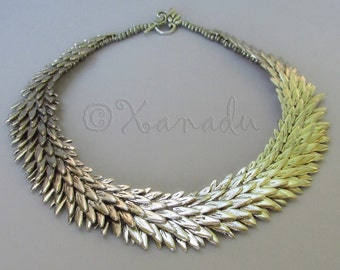 Silver Angel Wing Statement Necklace