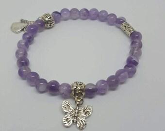 Angel - Butterfly Amethyst Bracelet
