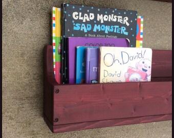 Shelf, Reclaimed Wood, Wall Hanging shelf, Barn wood Red, Bathroom Shelf, Nursery, Bookshelf, Boys, Girls, Kids Room, Personalized, Toy Box,