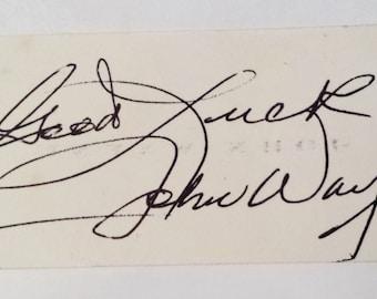 John Wayne Signature Autograph Authentic 1970's Vintage, Temporary Price Reduction