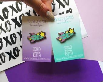 You're A Blast Rocket / Space Pin / Nasa Pin / Rocket Pin / Birthday Gift / Valentines Gift / Anniversary Gift / Friend