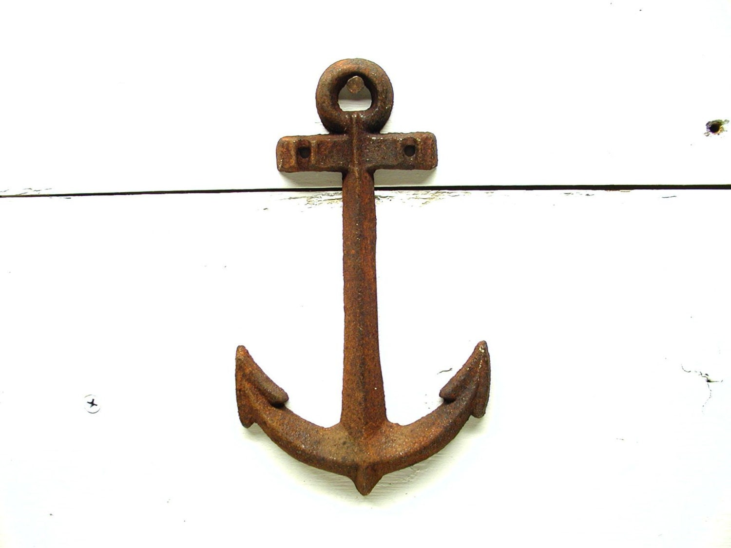 Metal Anchor Nautical Theme Decor Rusty Wall Anchor By