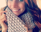 Crochet infinity scarf and slouchy hat coordinafing set - Teen/Adult Sizes