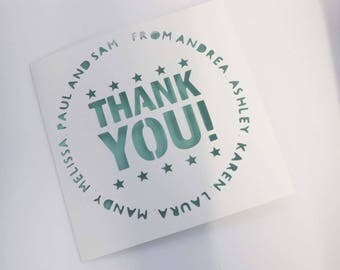 Group Thank You / Office / Colleague / Collection Card personalised papercut card