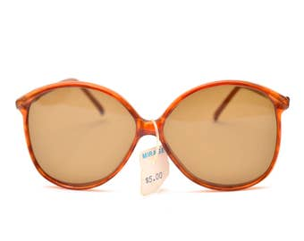 70s Oversized Sunglasses Tortoise Shell Dead Stock Summer