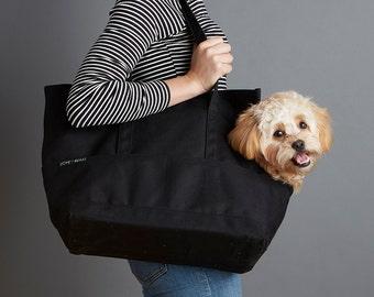Canvas Pet Tote Black - Dog Carrier