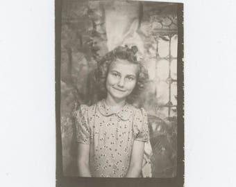 Vintage PhotoBooth Arcade Photo Enlargement, c1940s: Young Girl (74567)