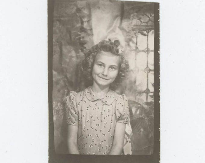 Vintage PhotoBooth Arcade Photo Enlargement, c1940s: Young Girl (74567)