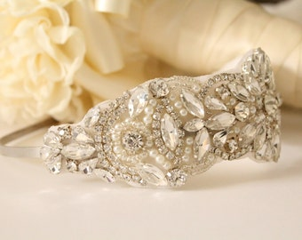 Rhinestone and Pearl Bridal Headband