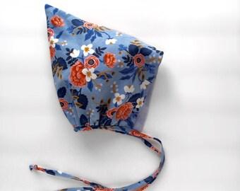 Pixie Bonnet Sunbonnet In Les Fleurs Rifle Paper Co Print