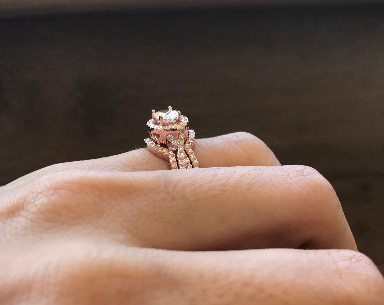Unique Wedding Set Classic Bridal Set Ring Engagement Twist Ring